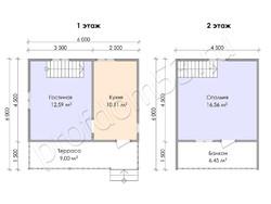 Дом из бруса проект Фадей - вид 3