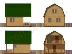 Дом из бруса проект Федор - вид 2