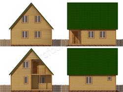Дом из бруса проект Федосей - вид 2