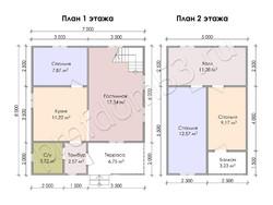 Дом из бруса проект Федосей - вид 3