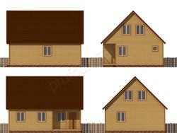 Дом из бруса проект Федот - вид 2