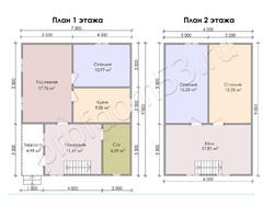 Дом из бруса проект Федот - вид 3