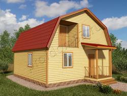 Дом из бруса проект Феликс - вид 1