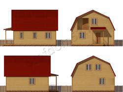 Дом из бруса проект Феликс - вид 2