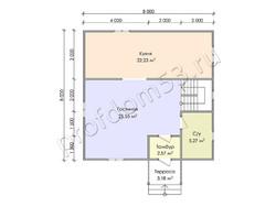 Дом из бруса проект Феликс - вид 3