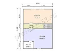 Дом из бруса проект Феликс - вид 4