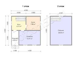 Дом из бруса проект Филимон - вид 3
