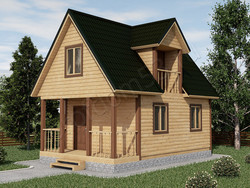 Дом из бруса проект Филипп - вид 1