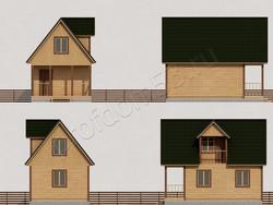 Дом из бруса проект Филипп - вид 2