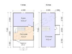 Дом из бруса проект Филипп - вид 3