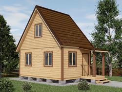 Дом из бруса проект Фома - вид 1