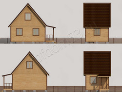 Дом из бруса проект Фома - вид 2