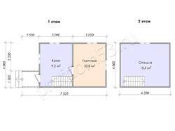 Дом из бруса проект Фома - вид 3