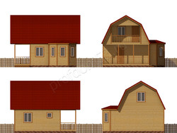 Дом из бруса проект Фрол - вид 2