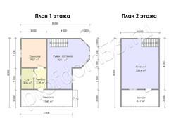 Дом из бруса проект Фрол - вид 3
