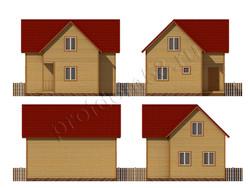 Дом из сухого бруса проект Гарри - вид 2