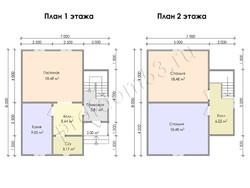 Дом из бруса проект Гарри - вид 3