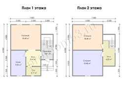 Дом из сухого бруса проект Гарри - вид 3