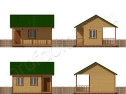 Дом из бруса проект Гавриил - вид 2