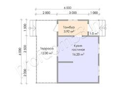 Дом из бруса проект Гавриил - вид 3