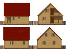 Дом из бруса проект Геласий - вид 2