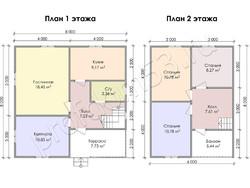 Дом из бруса проект Геласий - вид 3