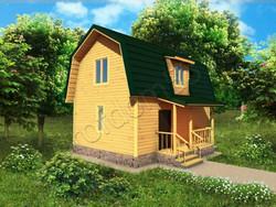Дом из бруса проект Геннадий - вид 1