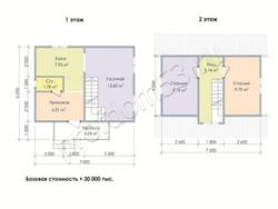 Дом из бруса проект Геннадий - вид 3