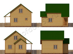 Дом из бруса проект Генри - вид 2