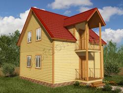 Дом из бруса проект Генрих - вид 1
