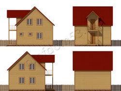 Дом из бруса проект Генрих - вид 2