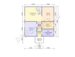 Дом из бруса проект Генрих - вид 3