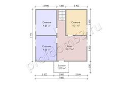Дом из бруса проект Генрих - вид 4