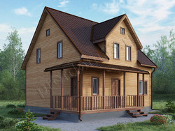 Дом из бруса проект Георгий - вид 1