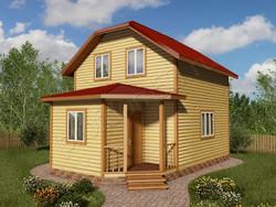 Дом из бруса проект Герасим - вид 1