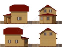 Дом из бруса проект Герасим - вид 2