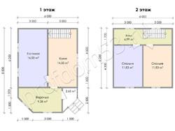 Дом из бруса проект Герасим - вид 3