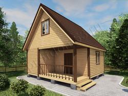 Дом из сухого бруса проект Герман - вид 1