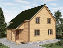 Дом из бруса проект Глеб - вид 1