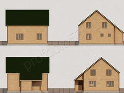 Дом из бруса проект Глеб - вид 2