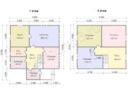 Дом из бруса проект Глеб - вид 3