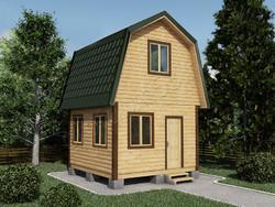Дом из сухого бруса проект Гордей  - вид 1
