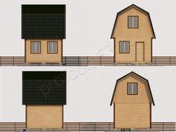 Дом из сухого бруса проект Гордей  - вид 2