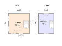 Дом из сухого бруса проект Гордей  - вид 3