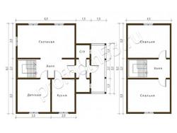 Дом из бруса проект Григорий - вид 2