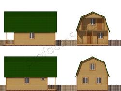 Дом из бруса проект Густав - вид 2