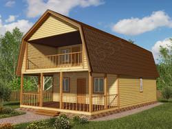 Дом из бруса проект Аполон - вид 1