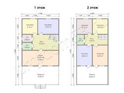 Дом из бруса проект Аполон - вид 2