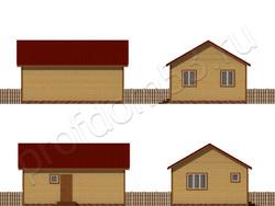 Дом из бруса проект Игнатий - вид 2