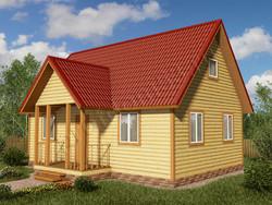 Дом из бруса проект Ильдар - вид 1